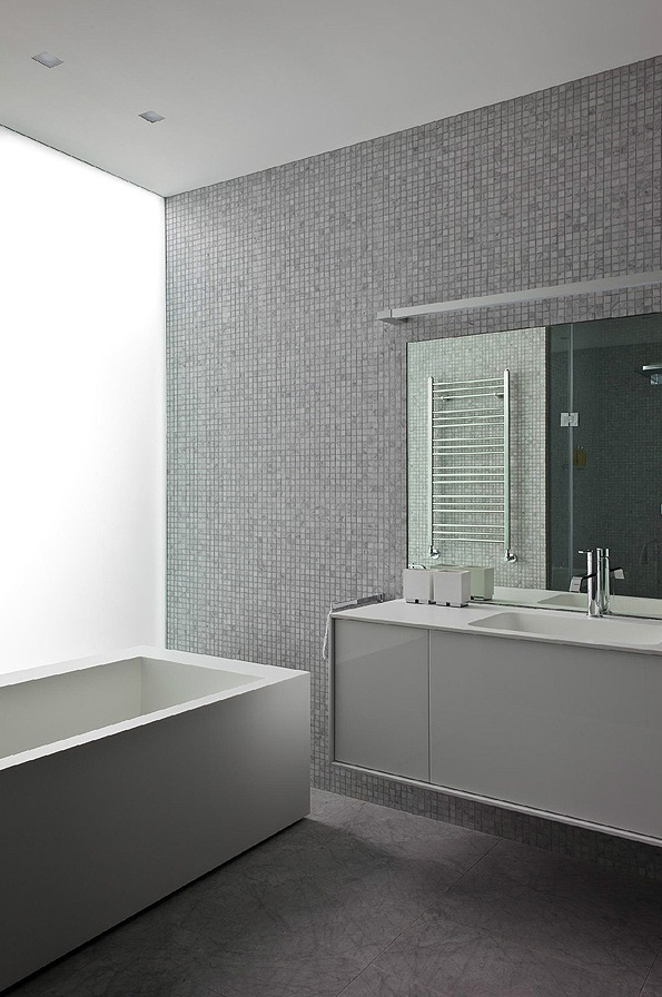 Another view of the bathroom, Mirax Plaza apartment in Moscow by Boris Uborevich Borovsky _