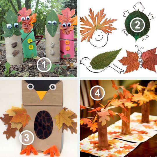Wat kan je allemaal met herfstbladeren en wc rolletjes? dit is eenvoudig en leuk om te doen