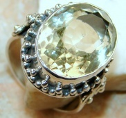 Awesome Citrine Sterling Silver ring s. 10