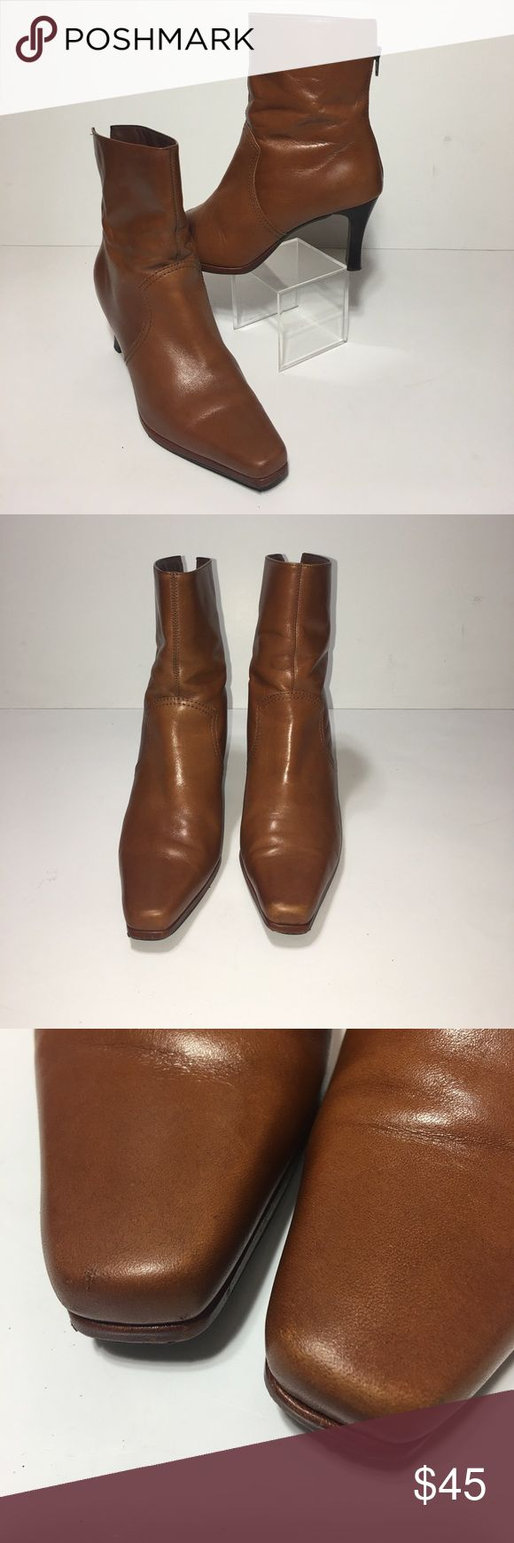 Unisa 'Vulcan' Camel Colored Zip Boot •Sz 7 Leather upper zip up boots • Beautiful Camel color • Great shape • No scuffs to leather Unisa Shoes Ankle Boots & Booties