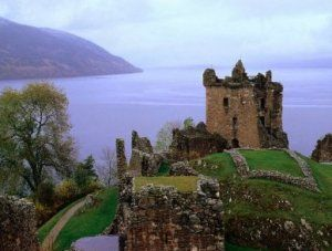 Urquhart Castle, Scotland.   One of the largest castles in Scotland.