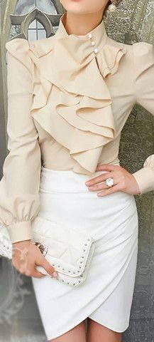 Ruffle layer blouse. From the Style Mob.