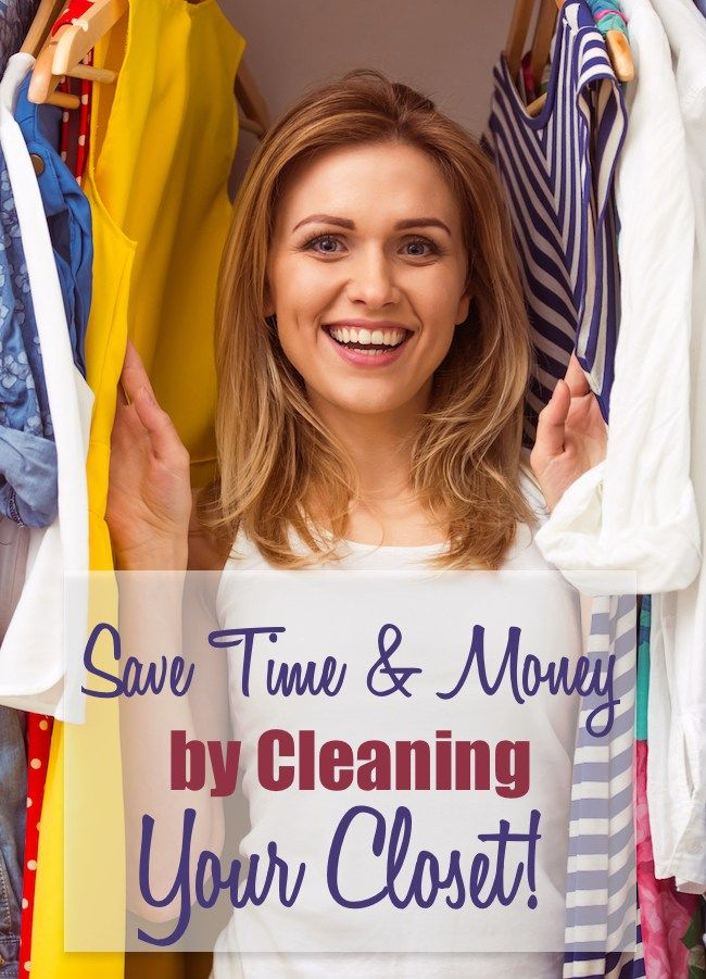 Save TiME and MONEY $$$ by cleaning and organizing your closet! Get the motivation and the steps to make it happen + FREE  printable worksheet to keep you on track.