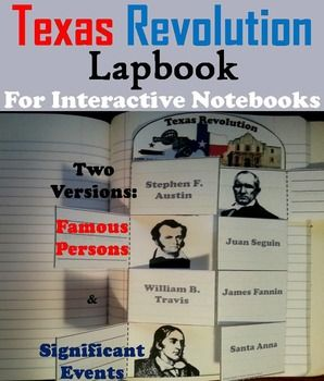 These lapbooks on the Texas Revolution are a fun hands on activity for students to use in their interactive notebooks. Students may research facts about each historical figure/ event and write what they find on the provided blank lines.