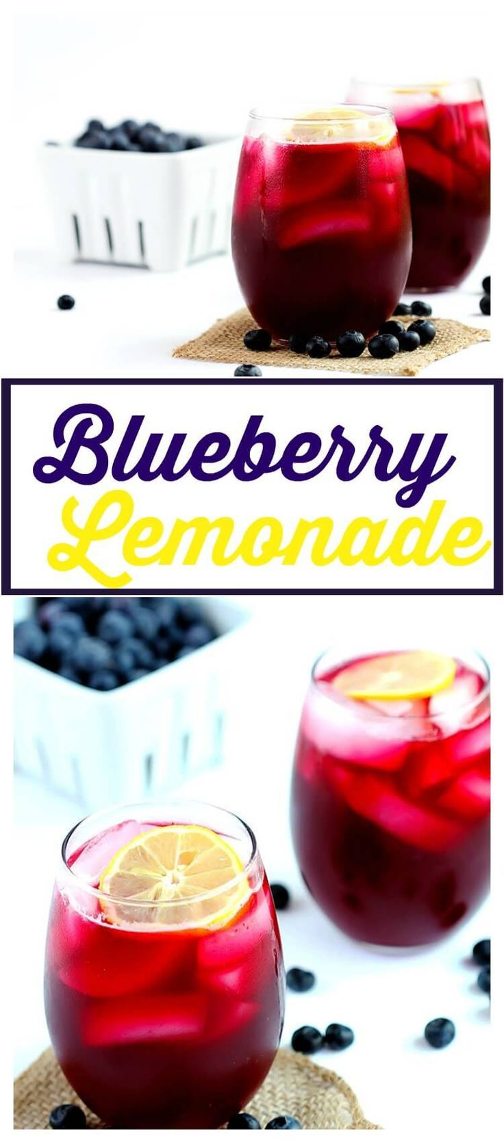 Blueberry Lemonade - Refreshing blend using fresh blueberries, real lemons and sugar. This easy recipe is the perfect summer drink to cool you down.