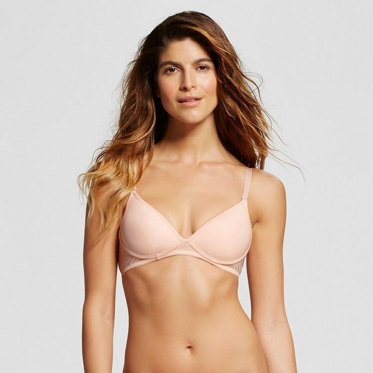 Ariette Petite Lingerie by The Little Bra Company Women's Aida Convertible No Wire Soft Pink 34B, Barely Pink