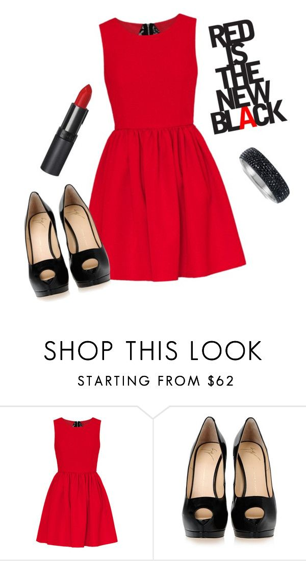 """""""Red is the new black"""" by sarabarlaup on Polyvore featuring Giuseppe Zanotti"""
