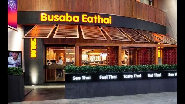 Bringing its brand of quick and low-cost Thai dishes to The O2, Alan Yau's Busaba Eathai is perfect for groups and families with its large, communal tables.