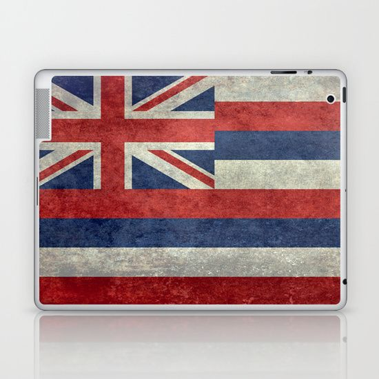 The State flag of Hawaii - Vintage version Laptop & iPad Skin  #Hawaii #flag #Hawaiianflag #vintage #retro