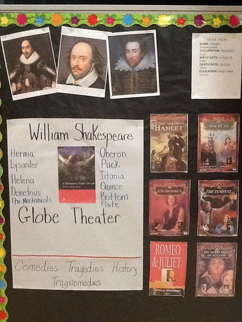 "Shakespeare for kids? YES! This site has lessons from a unit on A Midsummer Night's Dream. They use Brendan P. Kelso's version which is kid friendly! Settings, conflict, resolution, plot thickening, vocabulary, character traits, history, etc. The list could go on and on. Check it out! Add some of ""The Bard"" into your life."