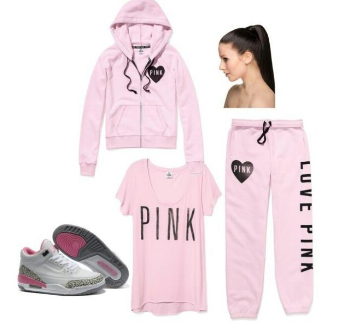 So me I love pink! And I love Jordanu0026#39;s! Lazy day outfit ) | Victoria secret outfits | Pinterest ...