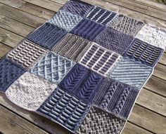Free knitting patterns for afghan sampler squares 2009 Afghan