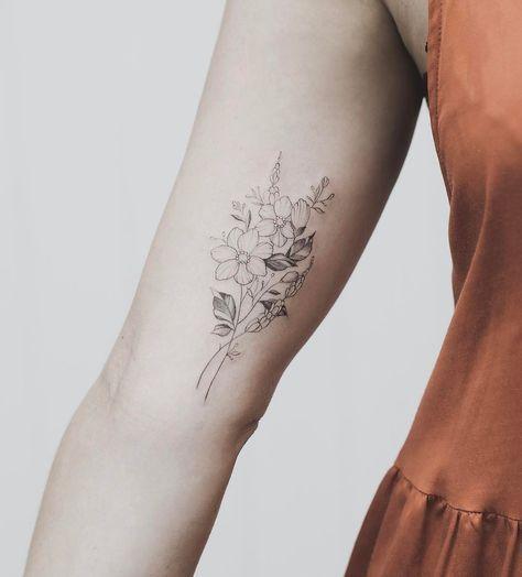 Ein bisschen was – Katie Larson – # TattooWomen's Unterarm – Ein bisschen was …