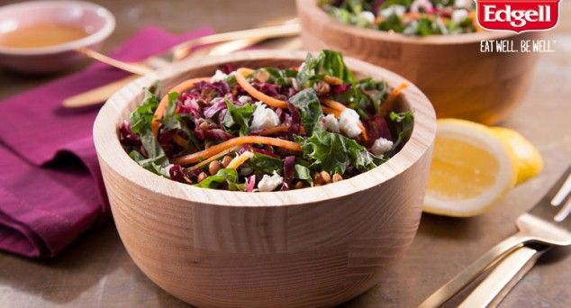 Try this twist on traditional coleslaw with The View from the Great Island's fresh Kale Slaw and Lentils.  #summersalad #vegetarian #easyrecipe