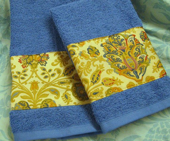 Custom Decorated Blue Hand Towels   Ralph Lauren by Sew1Pretty, $17.00