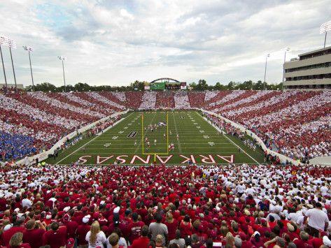University of Arkansas | University of Arkansas - War Memorial Stadium Striped Photographic ...