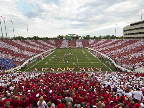 University of Arkansas | University of Arkansas - War Memorial Stadium Striped Photographic ...