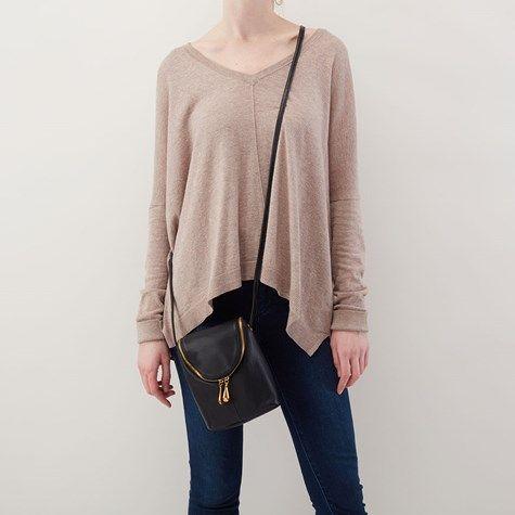 3798e93f9f21 Black Fern Soft Leather Crossbody Bag - Hobo Bags