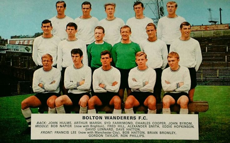 Bolton Wanderers team group in 1967-68.