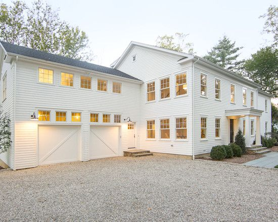 Traditional exterior design pictures remodel decor and for Farm style garage doors