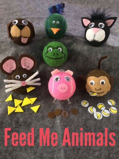Feed Me Tennis Ball Animal | Fall fair - Fijne motoriek en ...