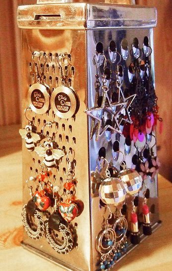 grater earrings suspension tip - diy - easy