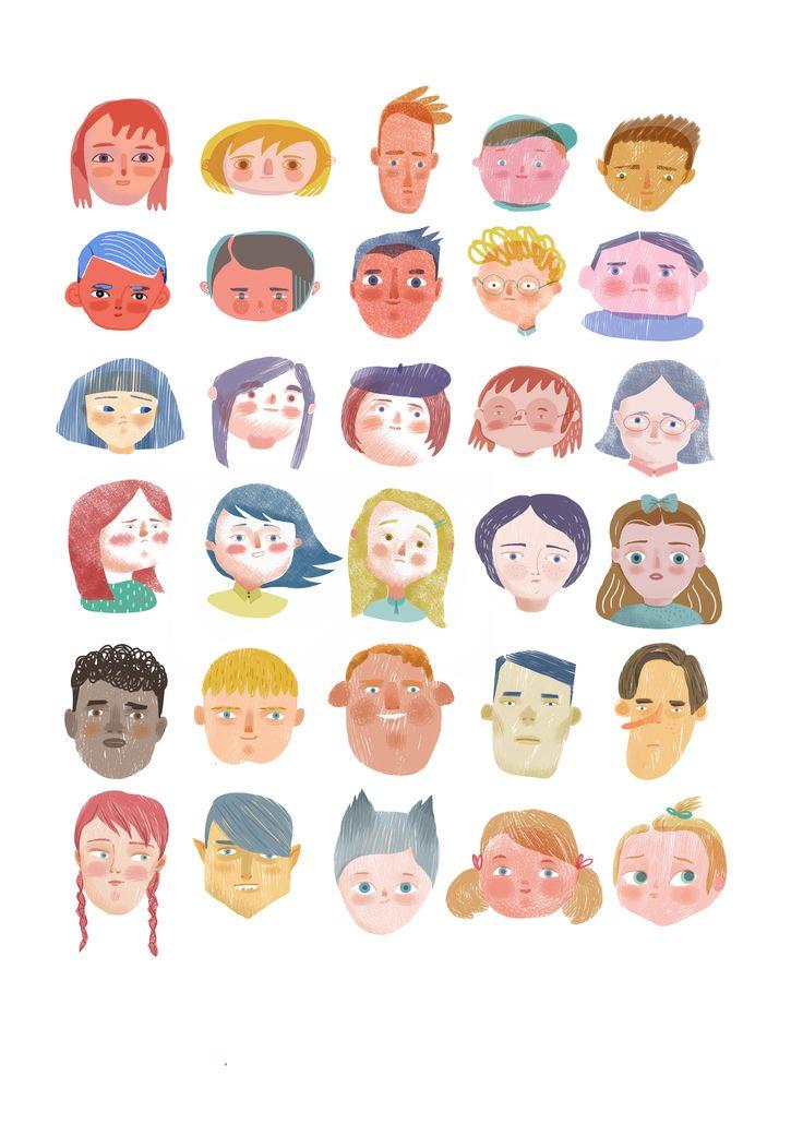 Sandra Rilova. Personajes para libro de texto.