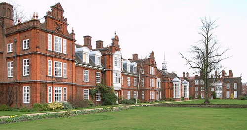 Newnham College, Cambridge (1874-1910) by Basil Champneys, with gardens by Gertrude Jekyll.
