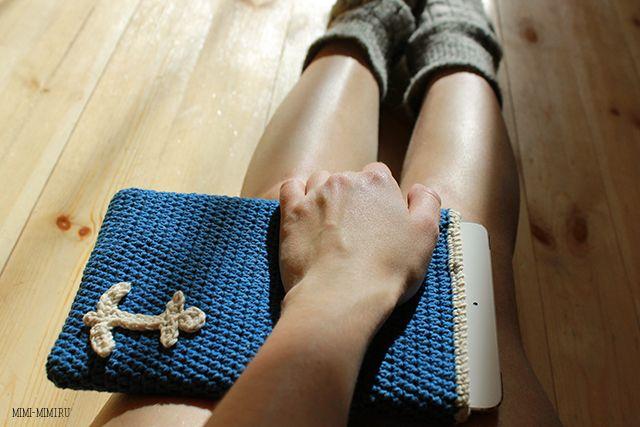 Чехол для iPad Mini :) -вязание полустолбиками !