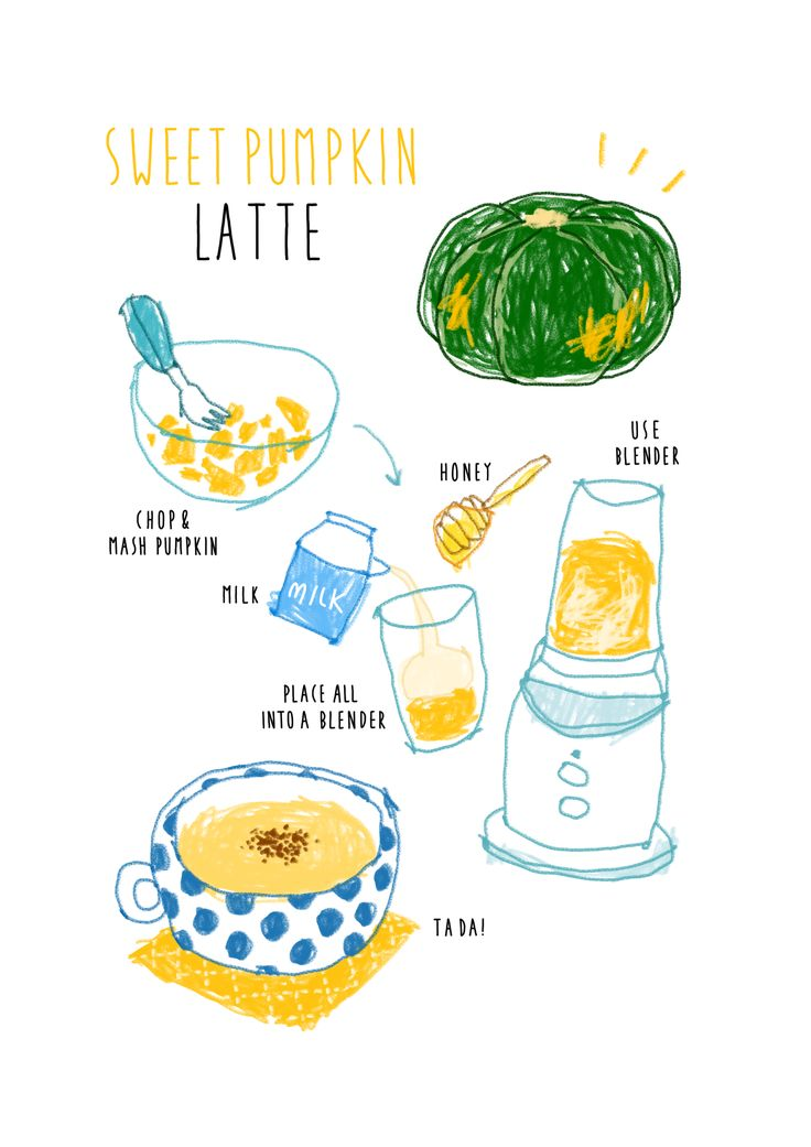 homemade pumpkin latte recipe illustration instagram@moreparsley_ heavenkim.com/