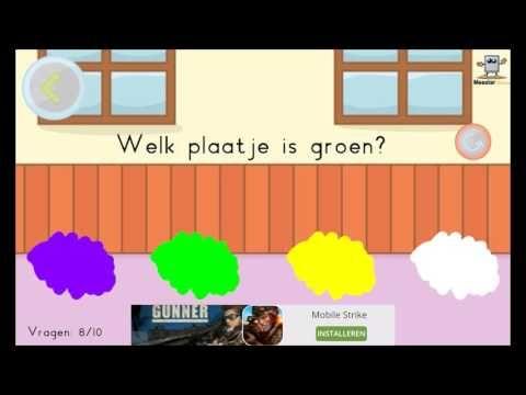 Een applicatie om de kleuren en vormen te oefenen. Te downloaden voor: Android: https://play.google.com/store/apps/details?id=com.MeesterDennis.Kleurenenvorm...