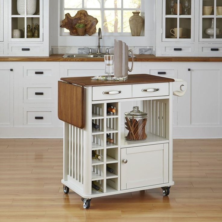 make more cooking and storage space in your kitchen with this kitchen cart complete with