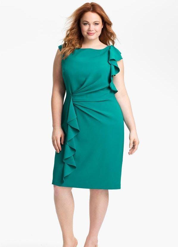 344657f03bbfbfb Фасоны платьев для полных женщин: фото, правила выбора, модели для леди с  животом — Имя