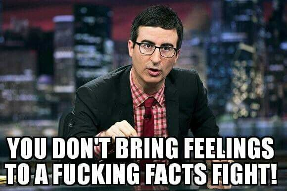 Just watched the show.  This is in response to Newt Gingrich's 'argument' that American's feelings 'trump' actual FBI facts.  If the top Republicans are this stupid ...