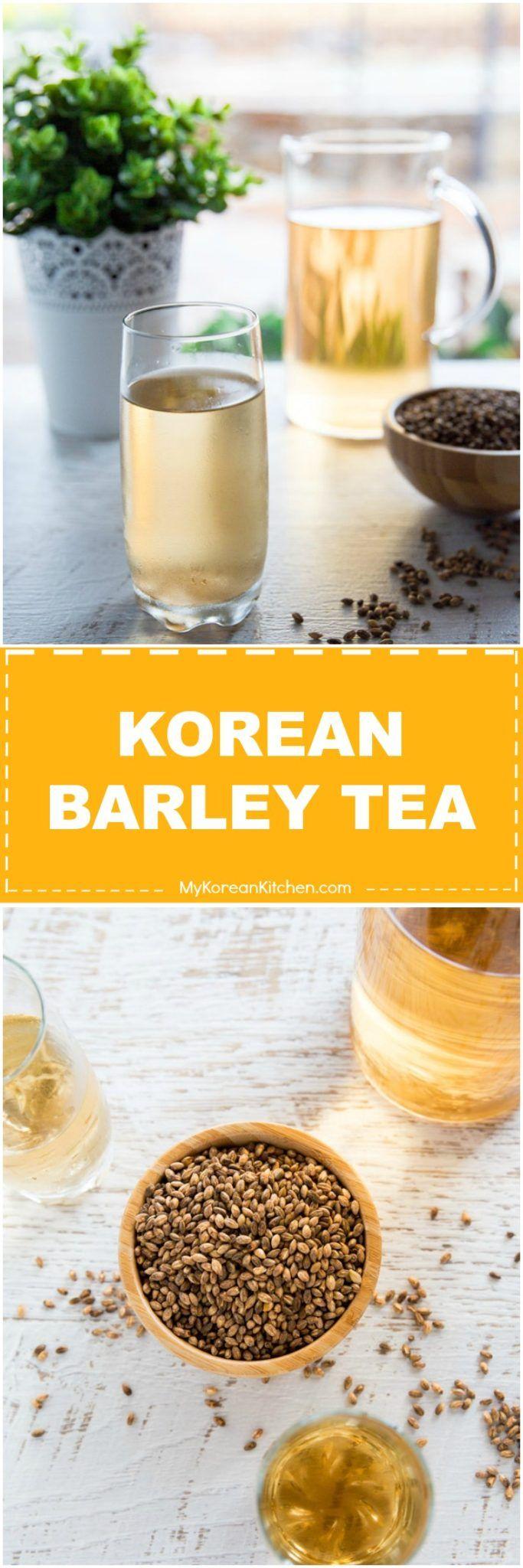 How to make Korean barley tea (boricha). Korean barley tea is a popular water alternative in Korea. It has nice nutty flavor and slightly sweet taste. | MyKoreanKitchen.com via @mykoreankitchen