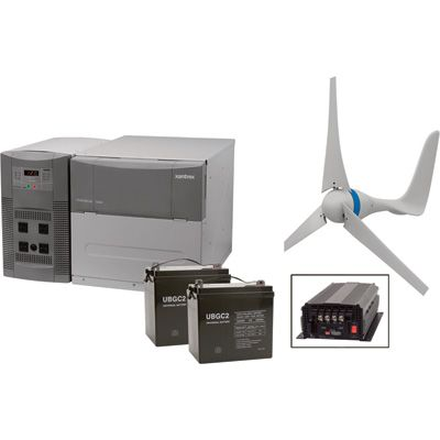 NPower Complete 1800 Watt Wind Power Package — Wind Turbine, Batteries and PowerHub — A Northern Exclusive!
