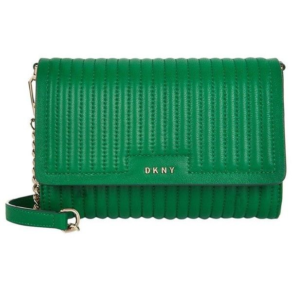 DKNY Gansevoort Cross Body Bag (210 CAD) ❤ liked on Polyvore featuring bags, handbags, shoulder bags, green crossbody, dkny handbags, crossbody handbags, green handbags and quilted purses