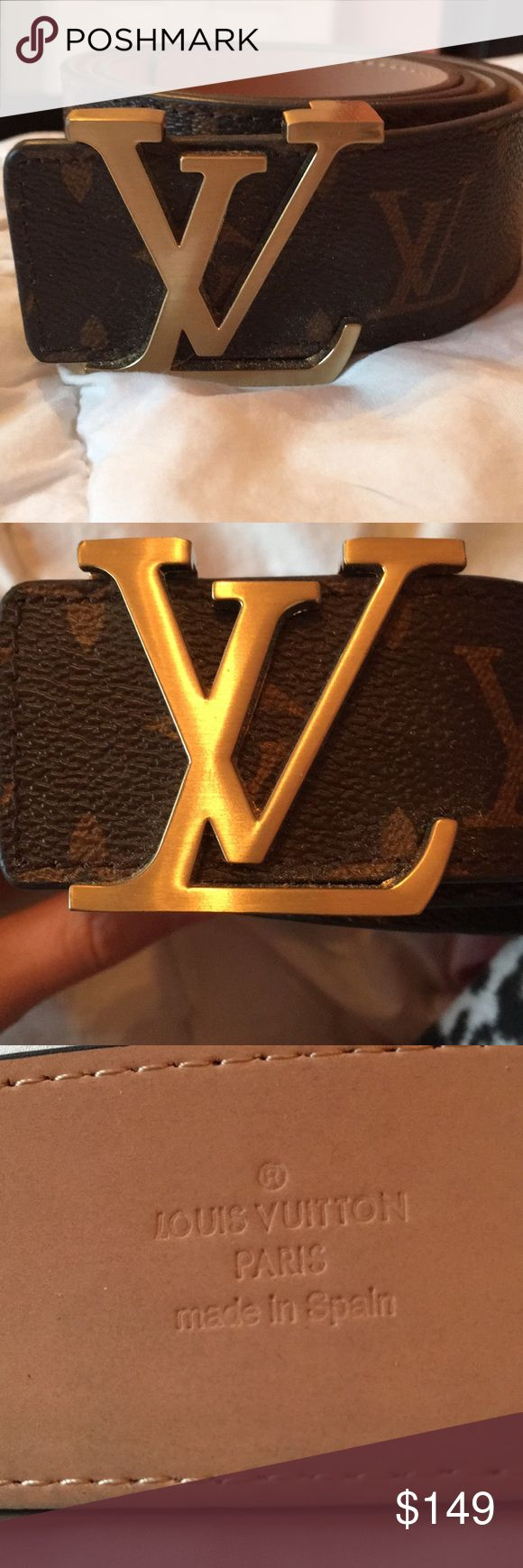 Unisex Original Louis Vuitton Belt Louis Vuitton Belt for both male and women  Brand new without tags Received as a gift and never worn 10/10 condition  asking 149 OBO. Flexible with price Louis Vuitton Accessories Belts