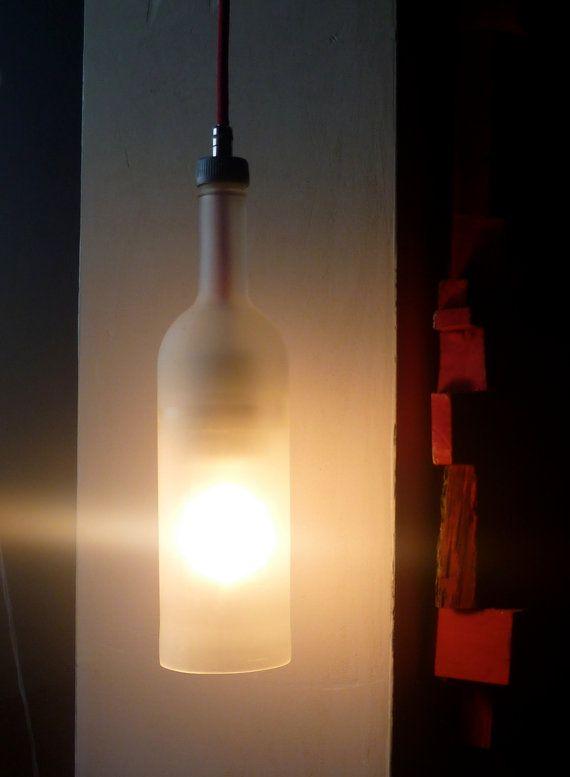 SIMPLE light  Recycled glass bottle  hanging light por Metamorphosi, €40,00