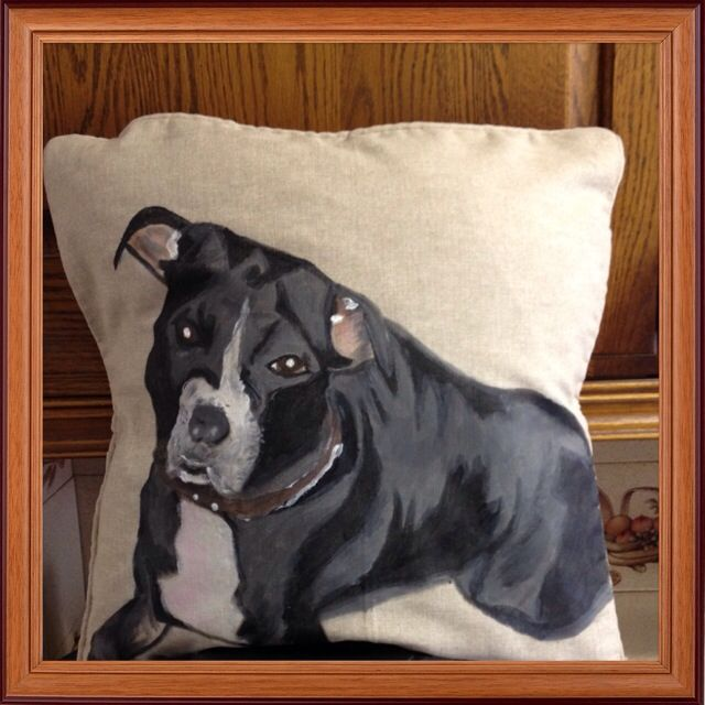 Hand painted pet cushion