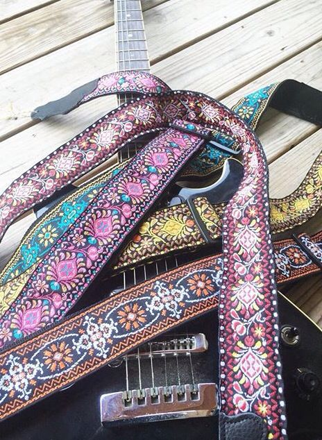 Even though I can only consistently play one chord on my guitar, I would still like to have a nice colorful strap on it. For those future days as we connect with my inner travelling minstrel.