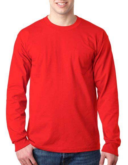 Jerzees Adult Long-Sleeve Heavyweight BlendT-Shirt - Burnt Orange - L by Bodek & Rhodes SfQdwq