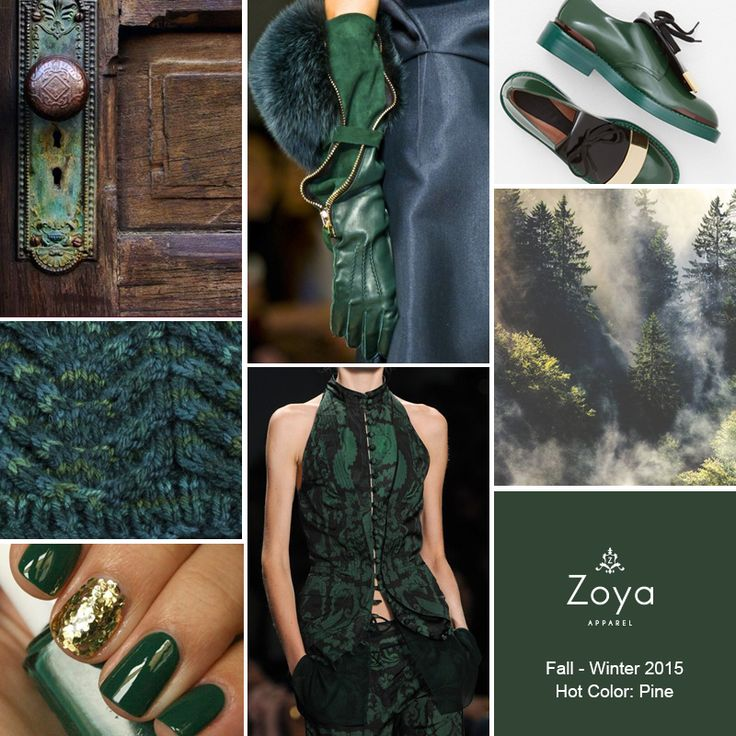 Pine is the smoothest fall-winter 2015 fashion color..  #zoya #apparel #fashion #trends #pine #color #fallwinter2015