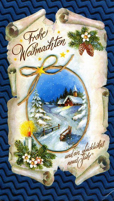 Открытка с рождеством на немецком языке, днем