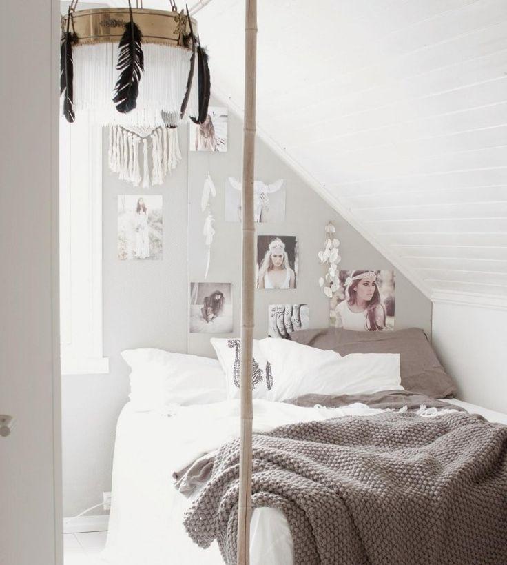 Schlafzimmer Dachschräge Gestalten Genial Wandgestaltung: Schnuckeliges Kleines Schlafzimmer In Weiß Unter Der