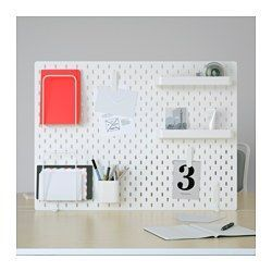 IKEA - SKÅDIS, Säilytystaulu, yhdistelmä, SKÅDIS-muistitaulu on apuna järjestyksen ylläpitämisessä. Siitä löydät nopeasti tarvitsemasi tavarat.