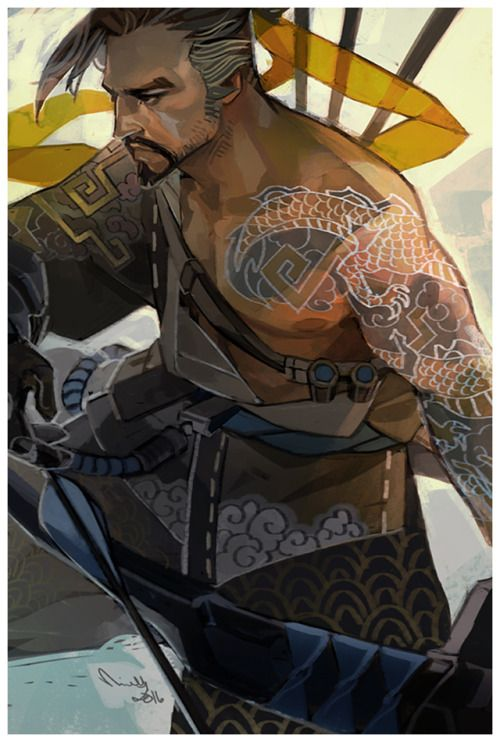 a Hanzo Tiddy™ print for Tracon : )