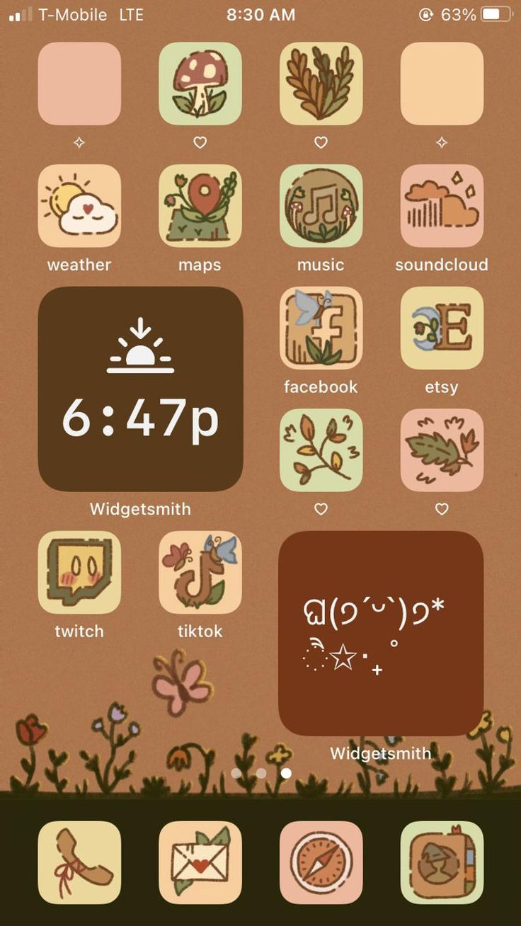 Cottagecore fall aesthetic iphone ios 14 app icons app