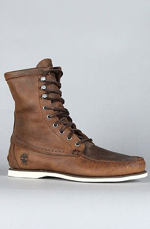 """Timberland Heritage 8"""" Handsewn Boat Leather Boot"""