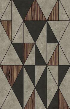 DIECUT #Geometric outdoor #wallpaper by @wallanddeco #design BPM Studio
